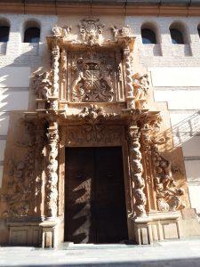 Portada del Palacio de Guevara de Lorca