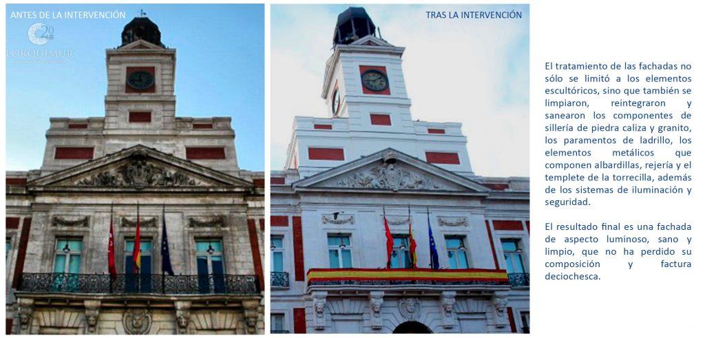 Recuperación fachada Puerta del Sol