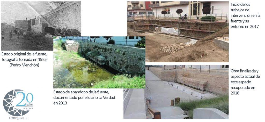 Trabajos realizados en Fuente del Oro de Lorca