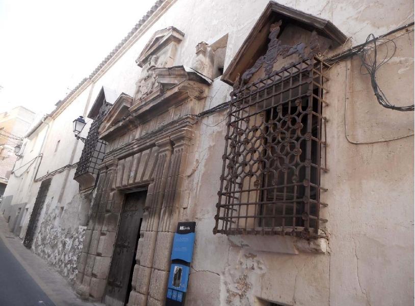 Fachada casa Perez de los Cobos de Jumilla